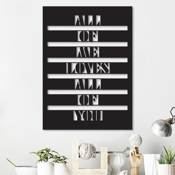 All of Me Loves Metal Wall Art